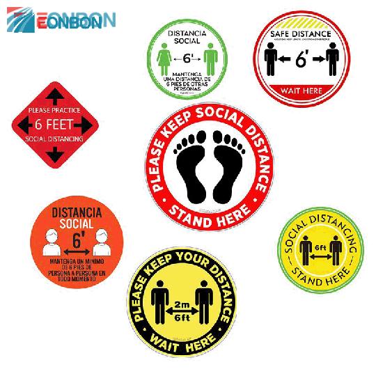 EONBON Free Sample Vinyl Social Distancing Sticker/
